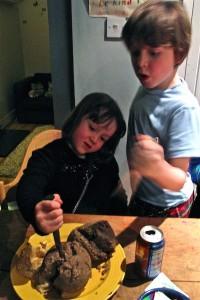Cutting the haggis
